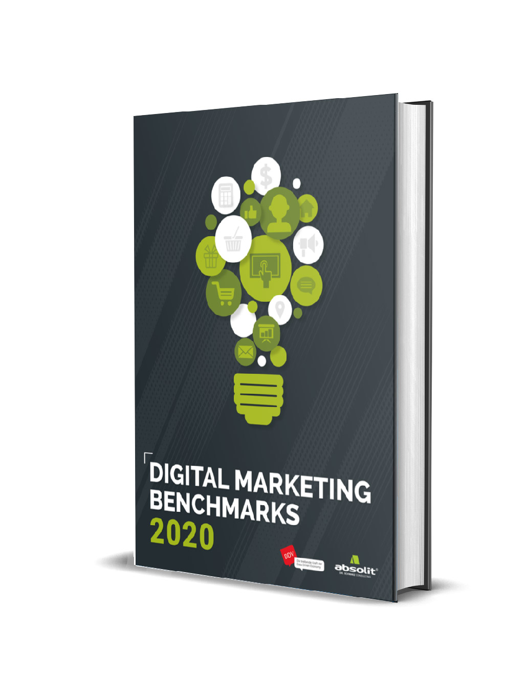 digital marketing benchmarks20 cover cover mockup - Digital Marketing Benchmarks 2020