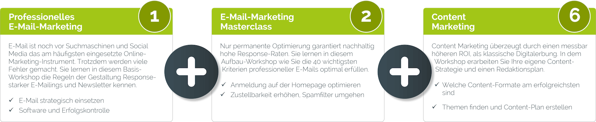 e mail marketing basics bundle lang - Unsere Seminar-Pakete