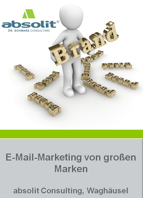 cover markenstudie - E-Mail-Marketing von großen Marken