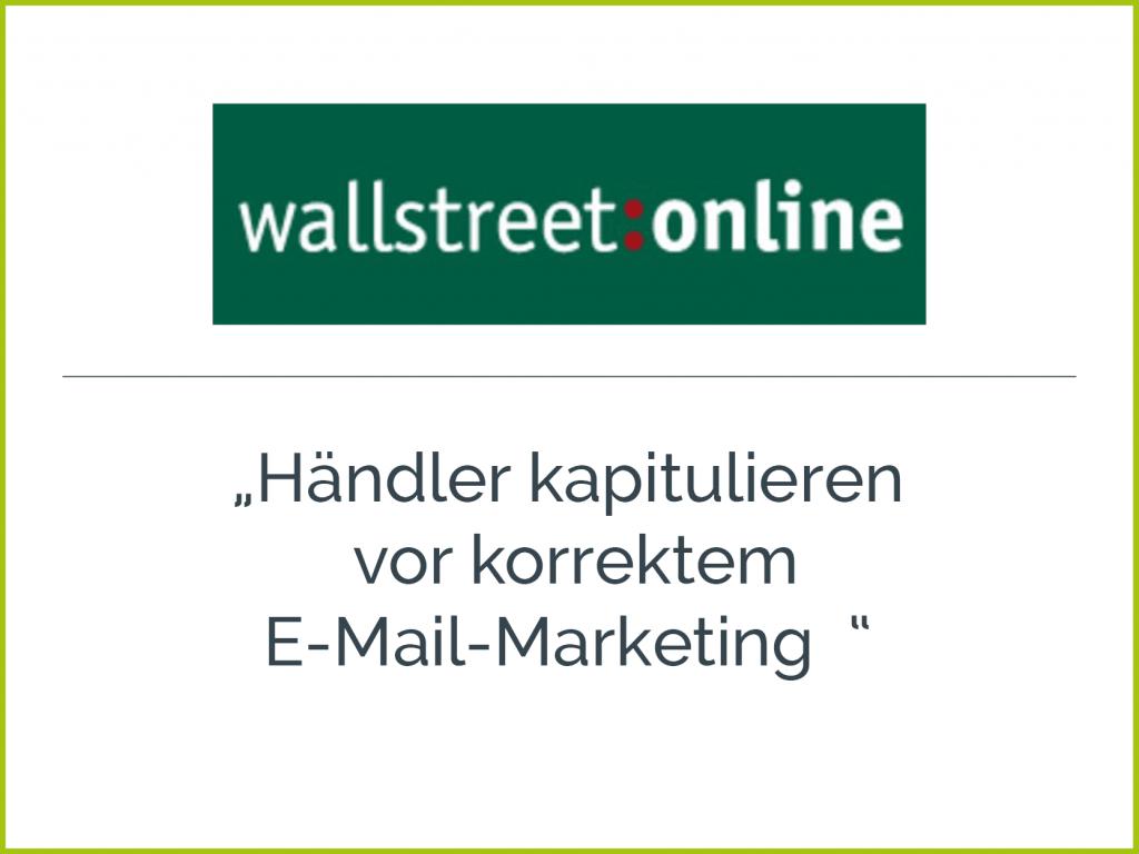 Presseclipping wallstreet online