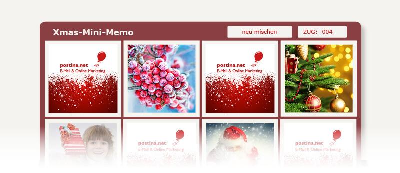 04 postina.net weihnachtsmails minimemo - 10 Last-Minute-Ideen für Weihnachtsgrüße